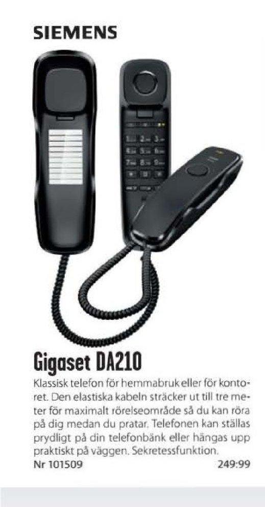 Erbjudanden och prisjämförelser på gigaset da210, telefon  1 (st) 249,99