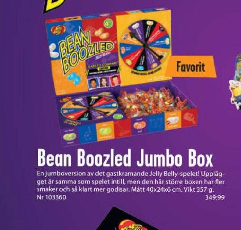 Erbjudanden och prisjämförelser på jelly belly jumbo box spel, godis 0,357 kg. 1 (pk) 349,99 980.36/kg.