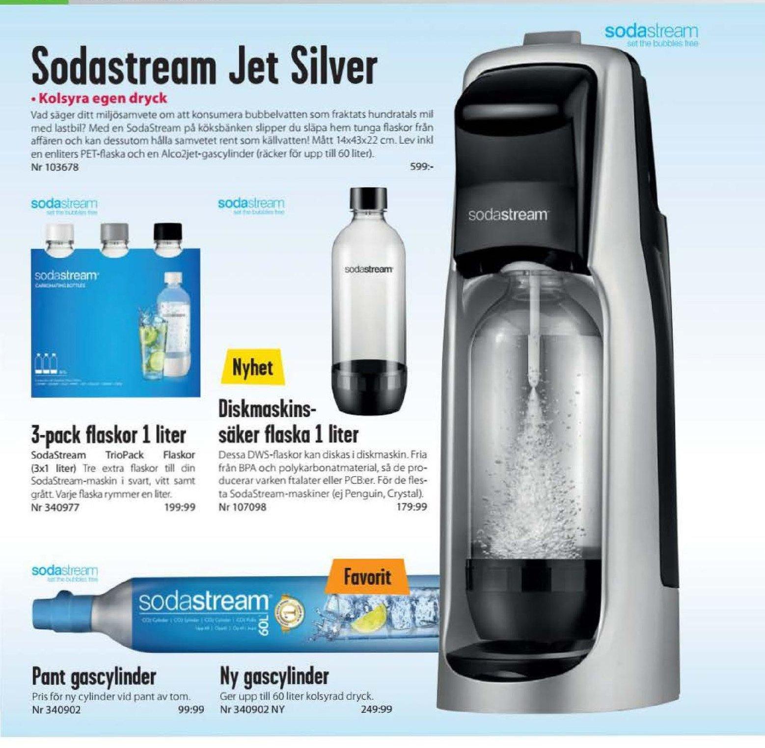 Erbjudanden och prisjämförelser på sodastream, kolsyrepatron  1 (st) 249,99